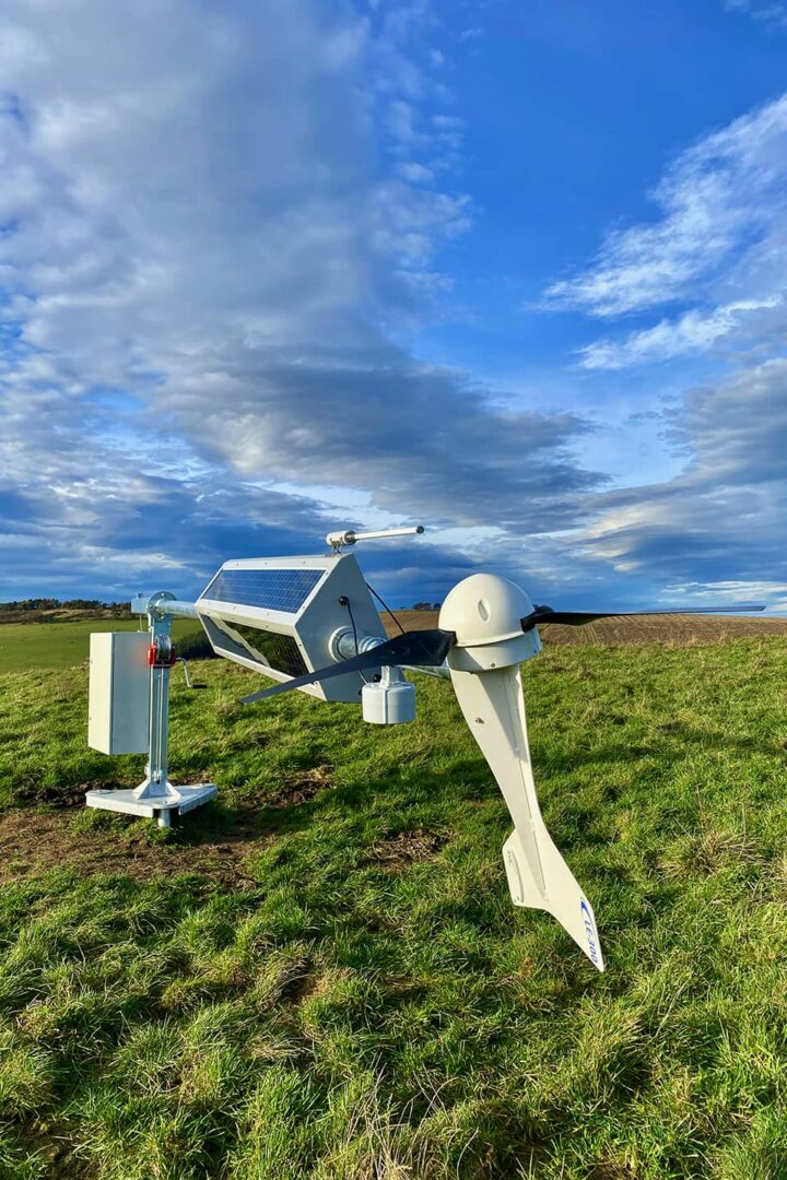 RADIX base station solar and wind power installed