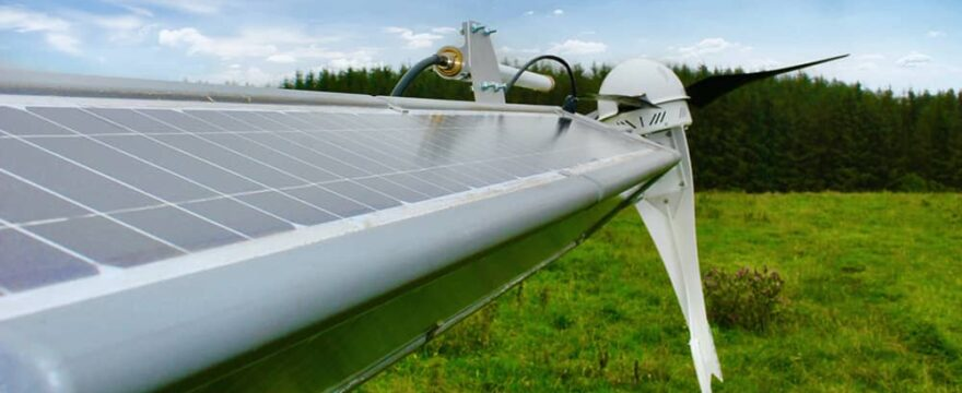 RADIX base station with solar and wind power