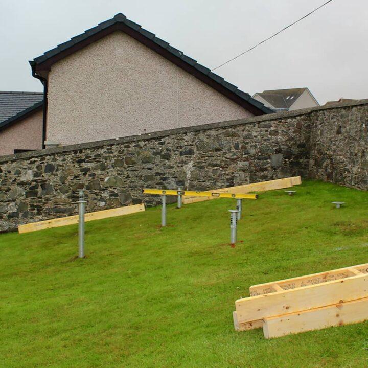 bbq grill ground screw foundations