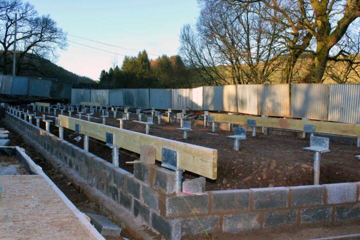community hall ground screw foundations