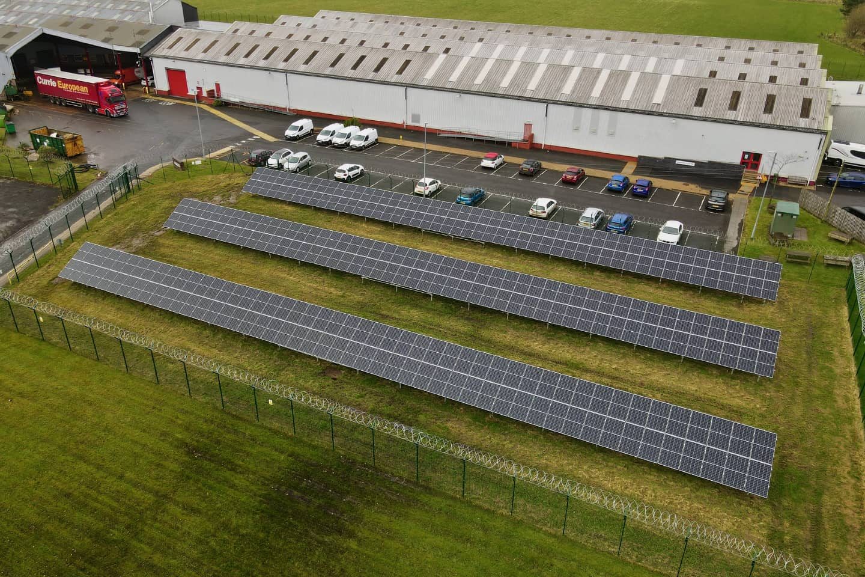 100kw solar PV foundations scotland