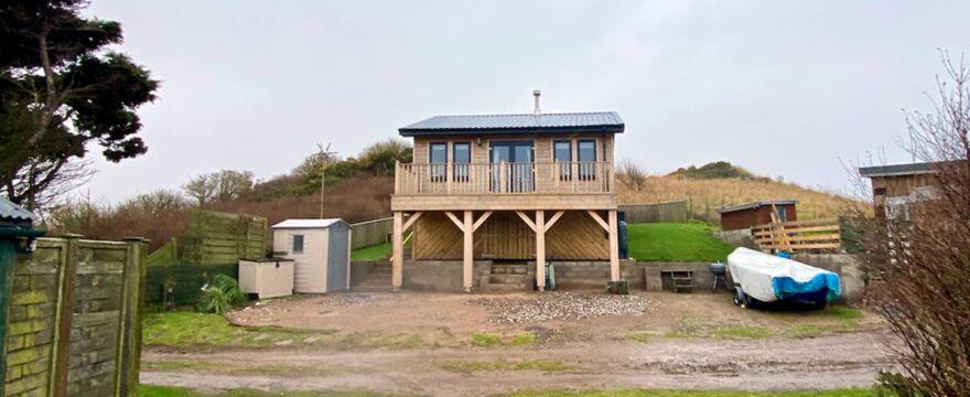beach hut ground screw foundations