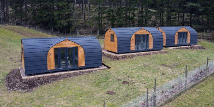 Holiday Glamping Pods Angus Glens Scotland