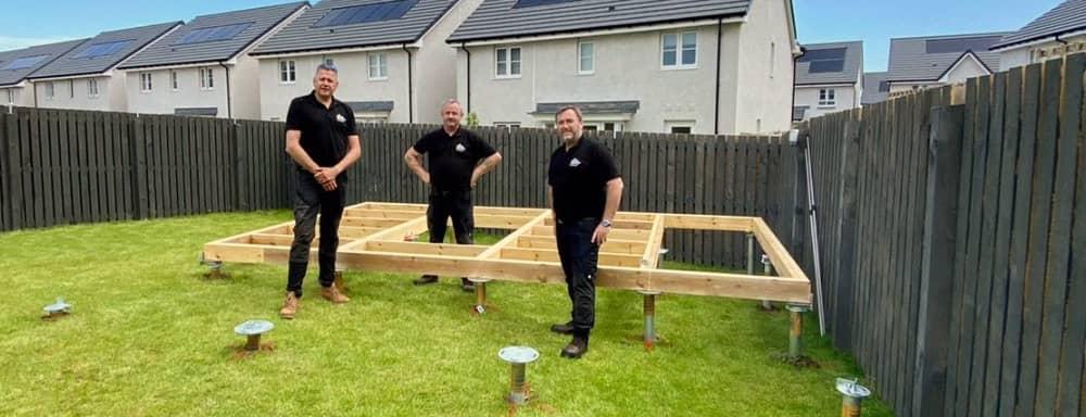 south ground screw install team