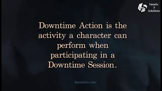 Creating a Downtime action