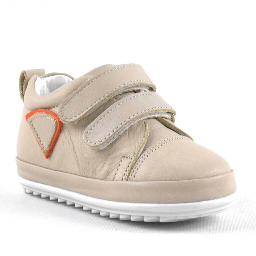 Rakerplus Scrat Genuine Leather First Step Toddler Baby Shoes - Cream