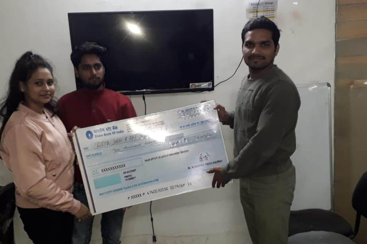 Reward by trainer for digital marketing project