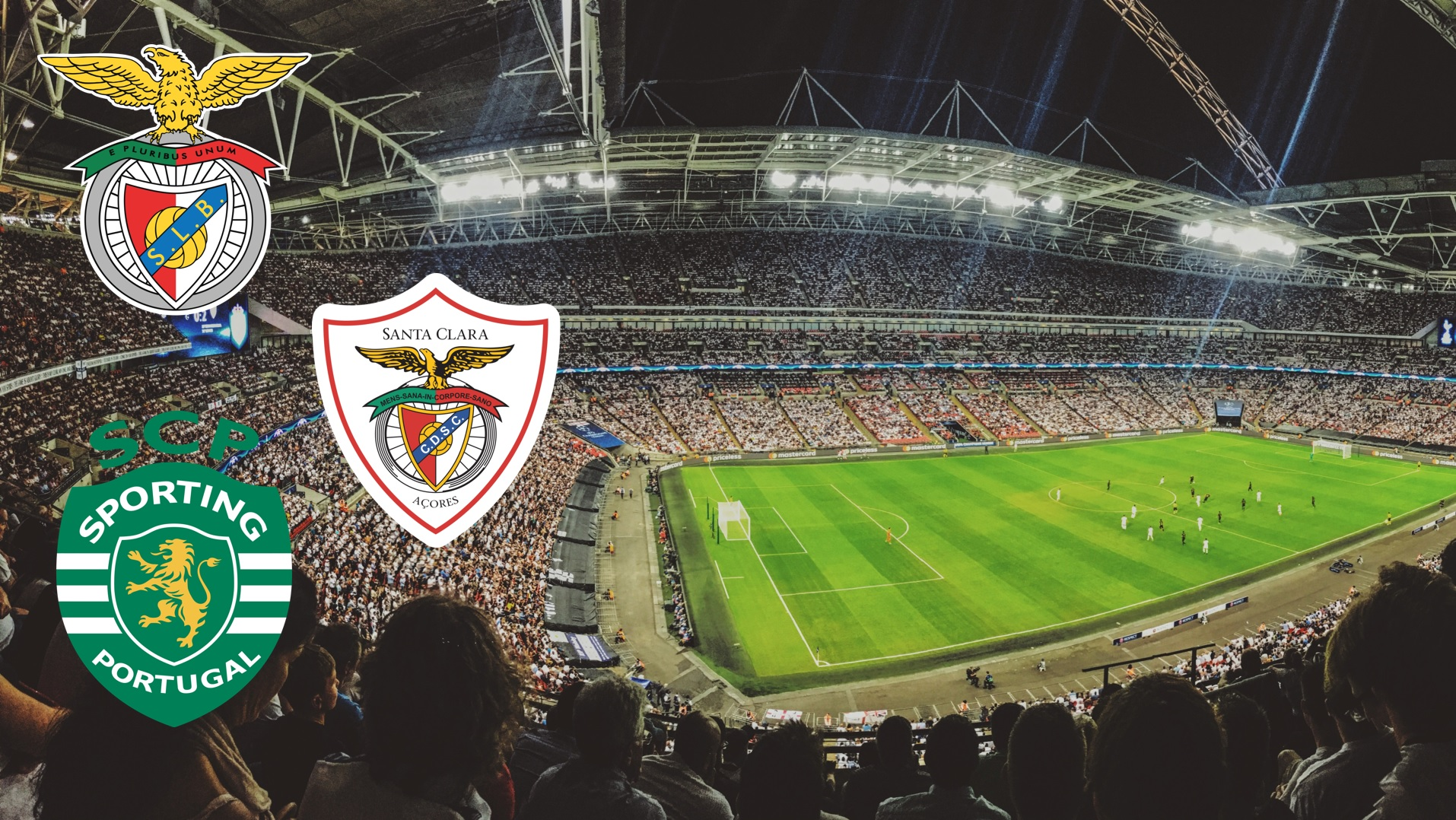 Portuguese football club - Benfica, Sporting and Santa Clara