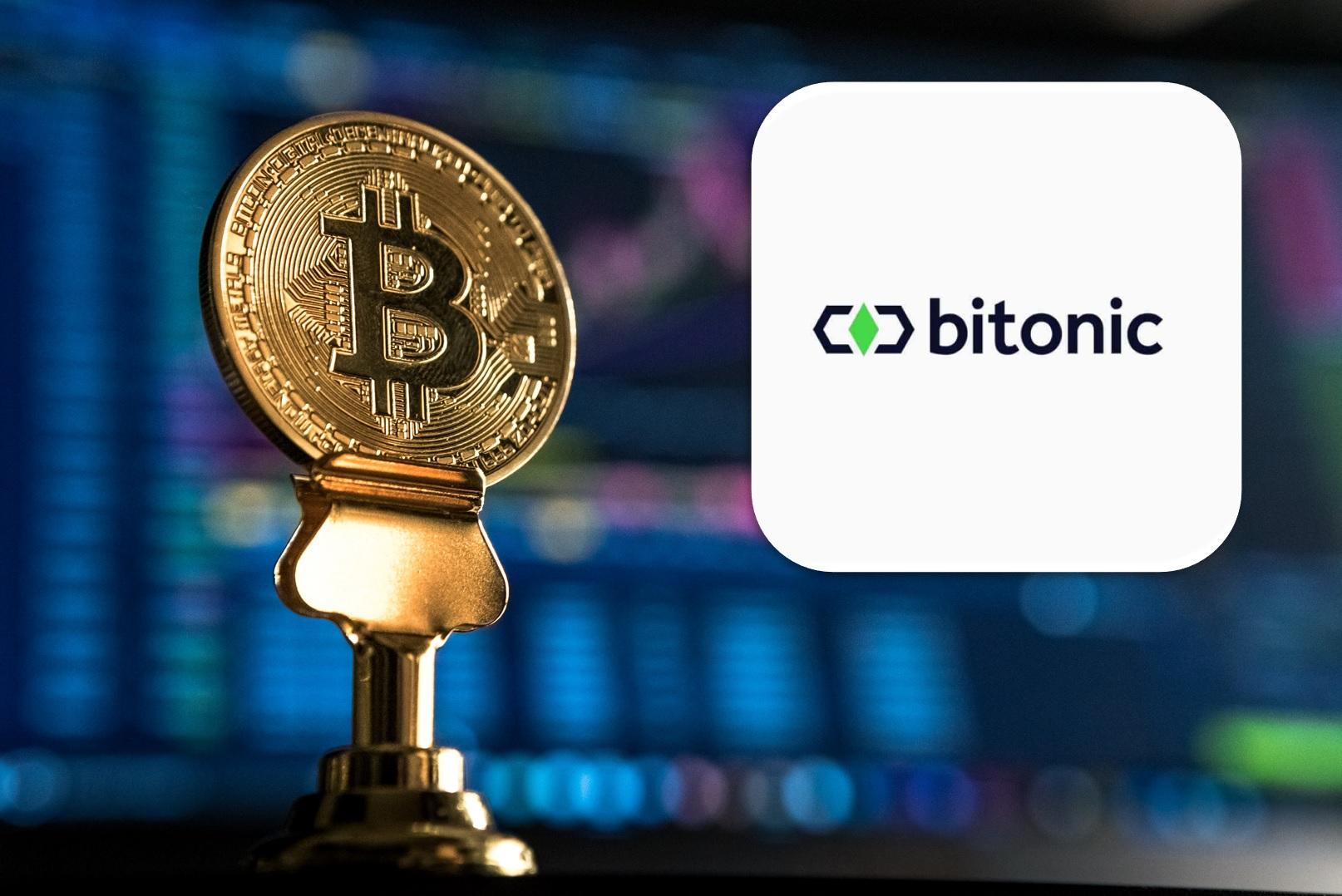 Bitonic logo with bitcoin