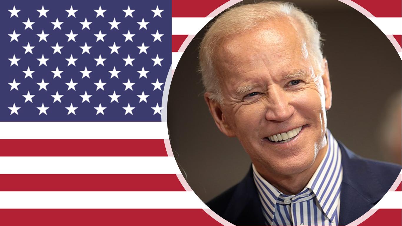 Joe Biden and the US Flag