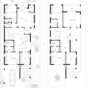 40x90-South-facing-4-bedroom-house-design-4bhk-3500Sft-duplex-house-plan-as-per-vastu-order-online-indiahousedesign