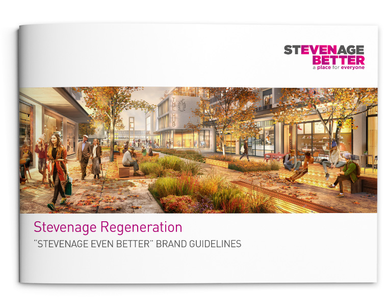 Stevenage Even Better Brand guidelines cover
