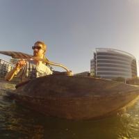 hemp kayak and paddle