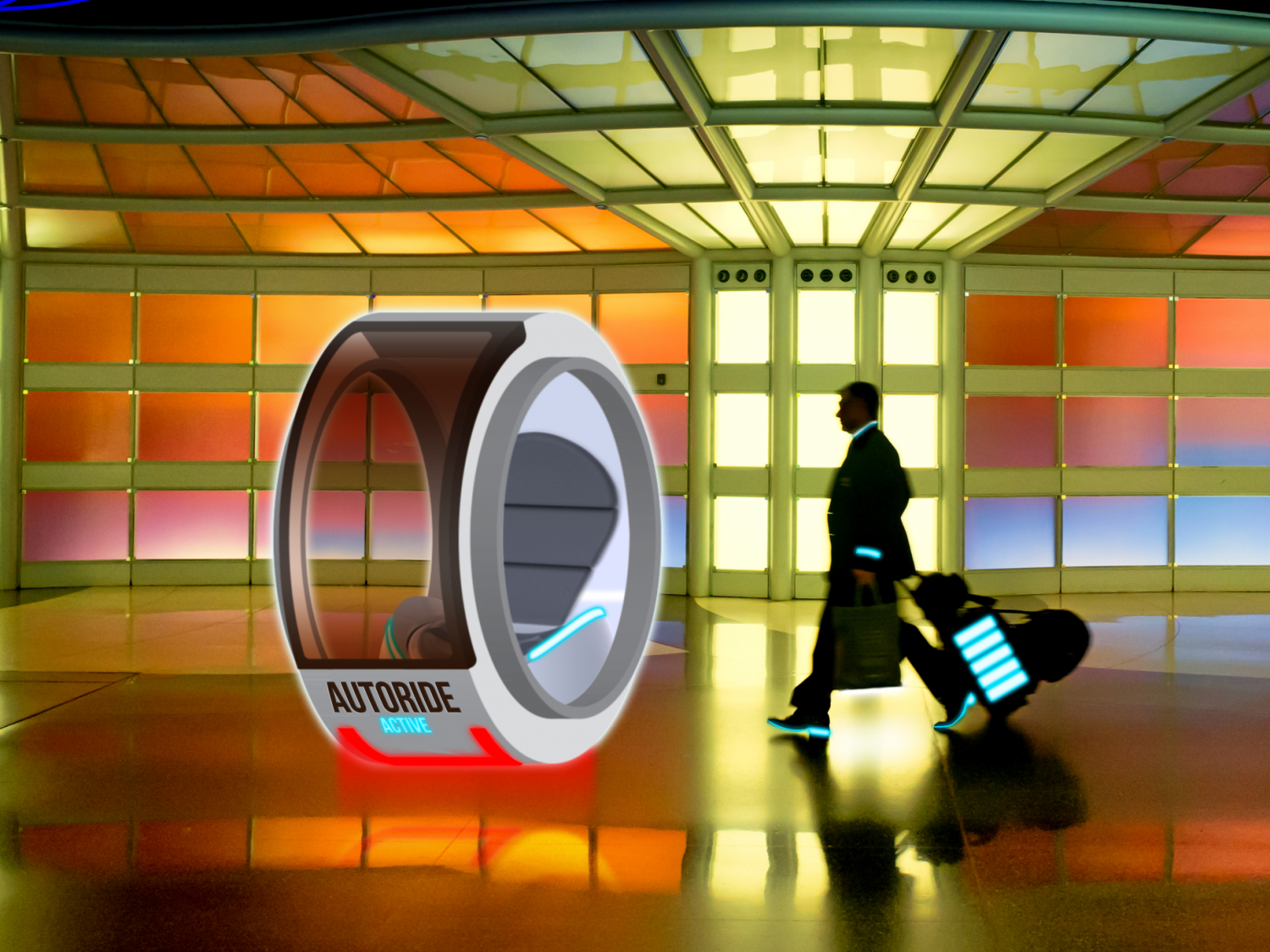 Airport transfer to the hotel room of the future