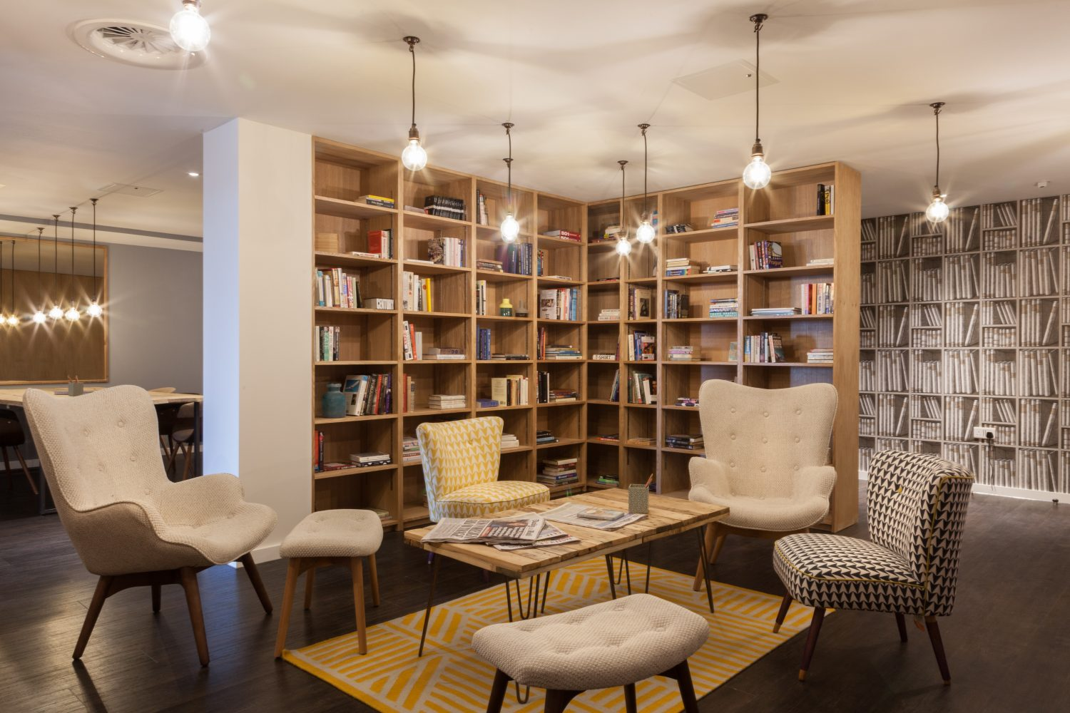 Library co-living at the Collective Old Oak