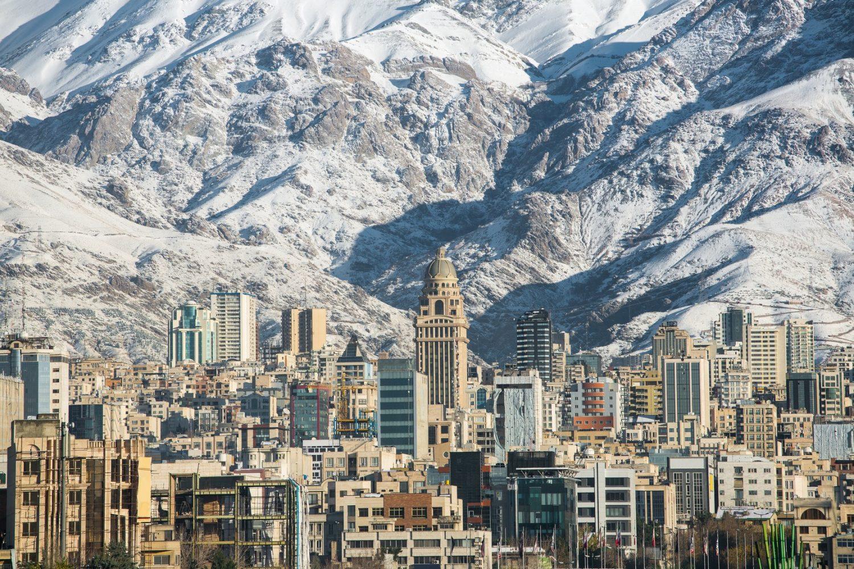 Mountains over Tehran, Iran