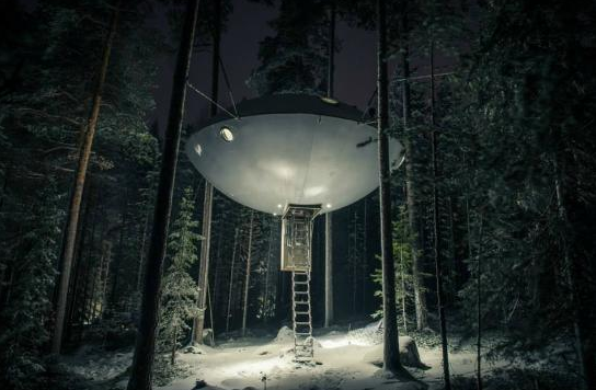 Remote hotels, Tree Hotel, Sweden