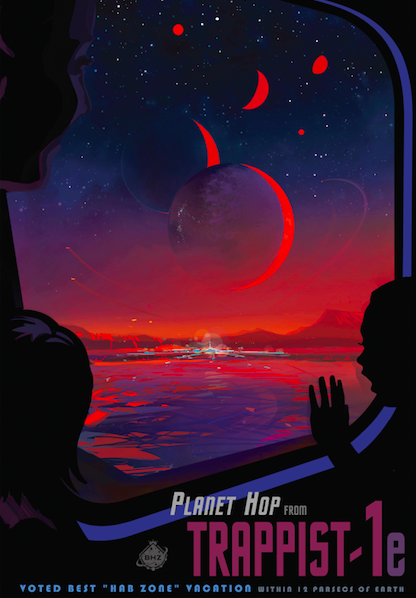 NASA Trappist 1 exoplanet travel poster