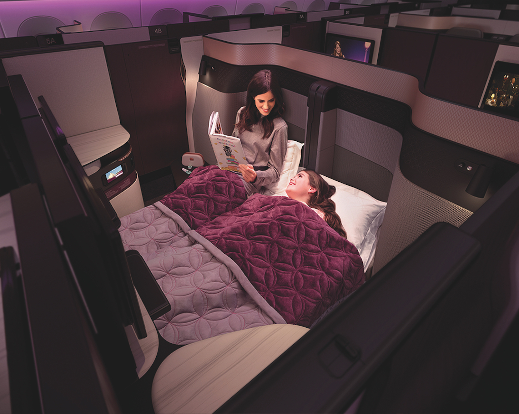 Qatar Airways Q Suite business class double bed