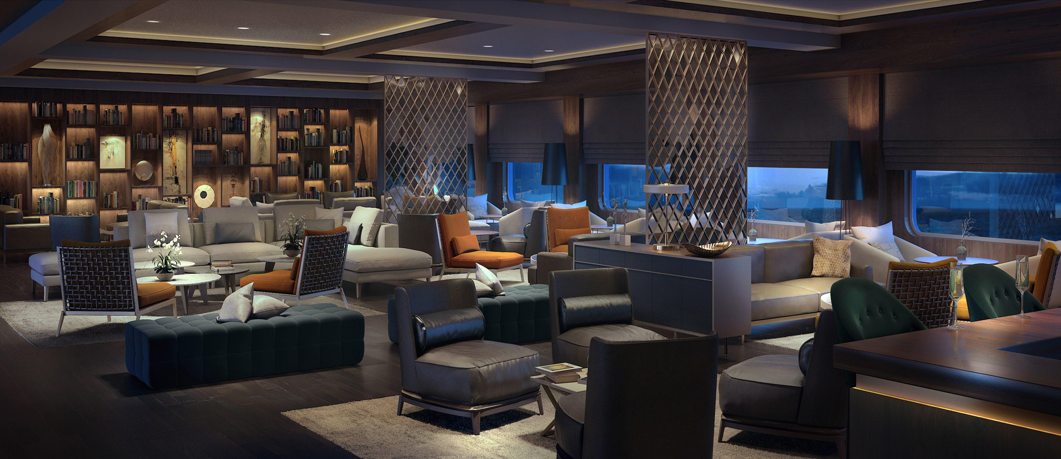 Living Room, Ritz-Carlton yacht