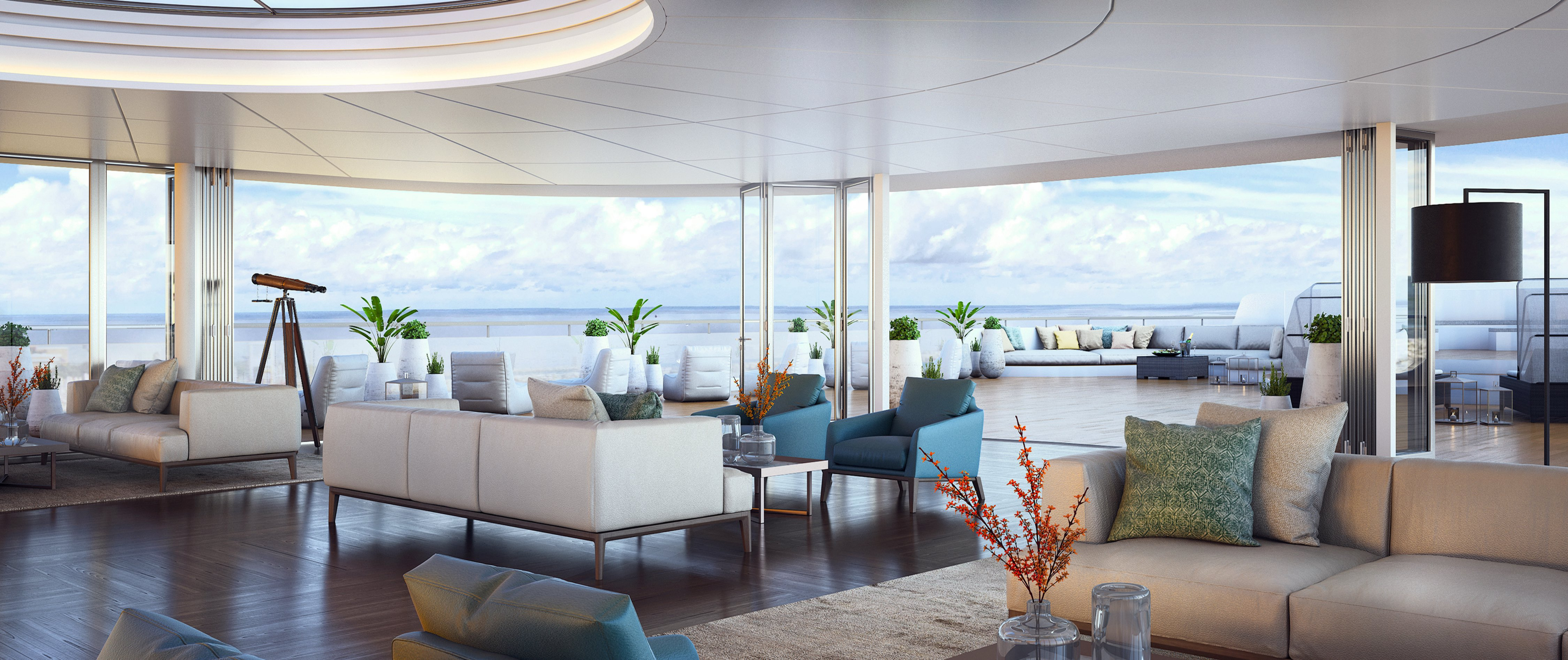 Observation Lounge, Ritz-Carlton yacht