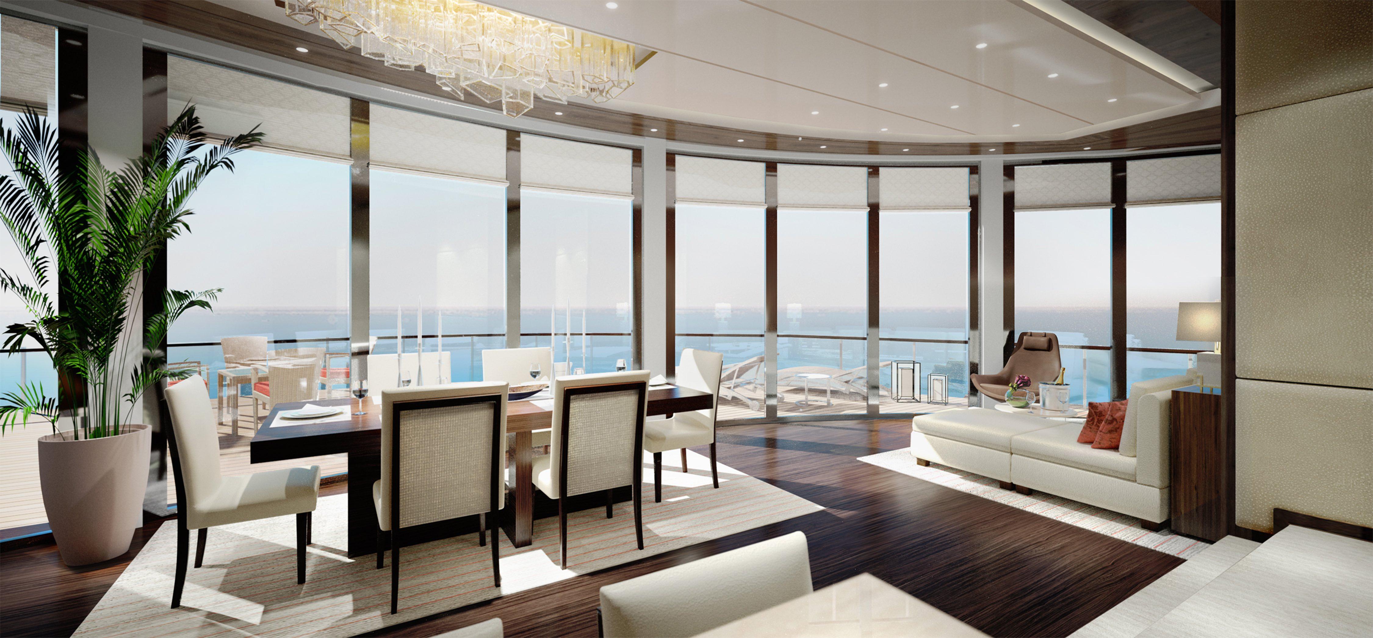Owner's suite, Ritz-Carlton yacht