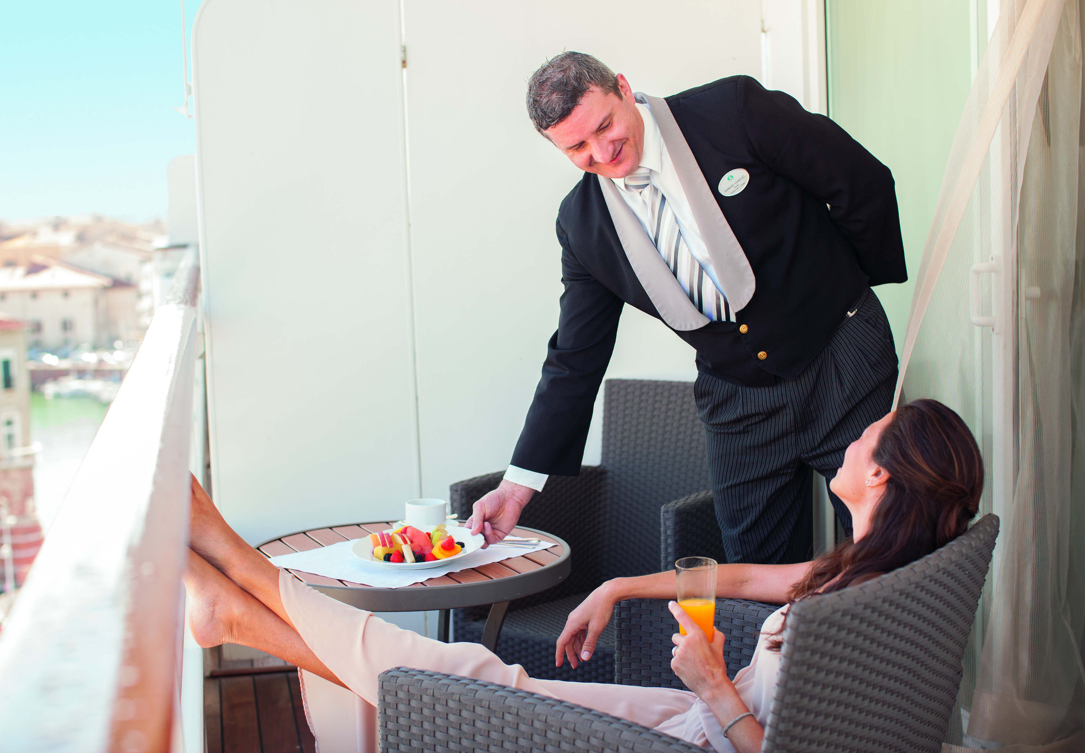 Crystal Cruises penthouse butler