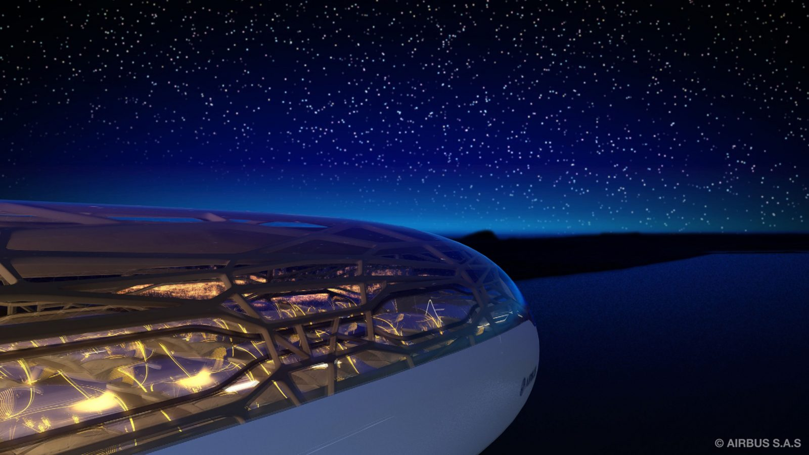 Transparent aircraft Airbus concept