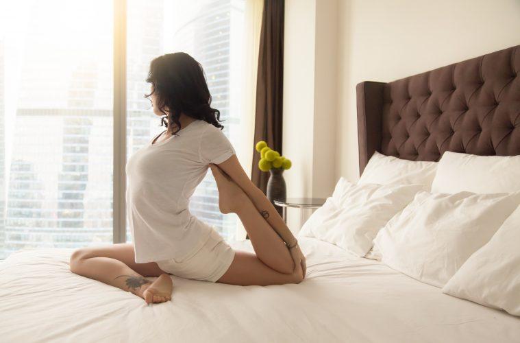 Yoga hotel room