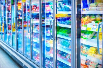 Futuristic grocery store