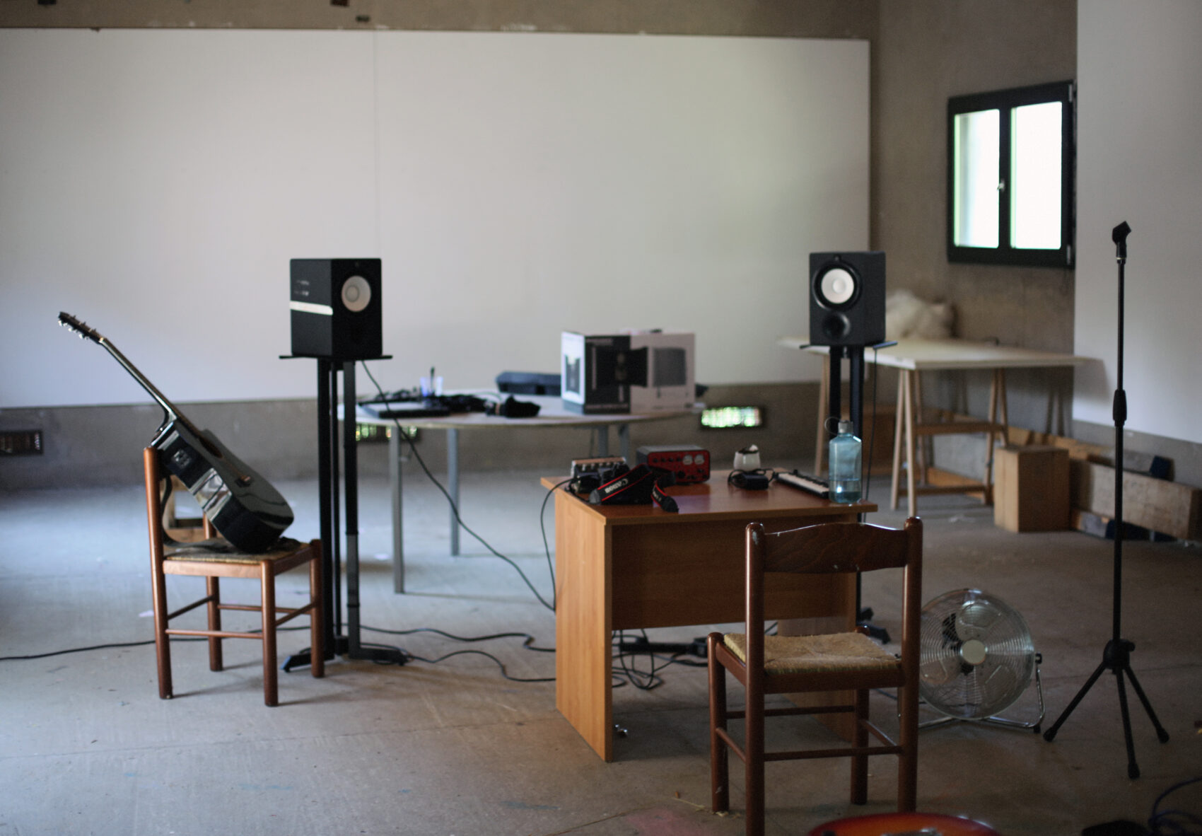 Music studio at Villa Lena