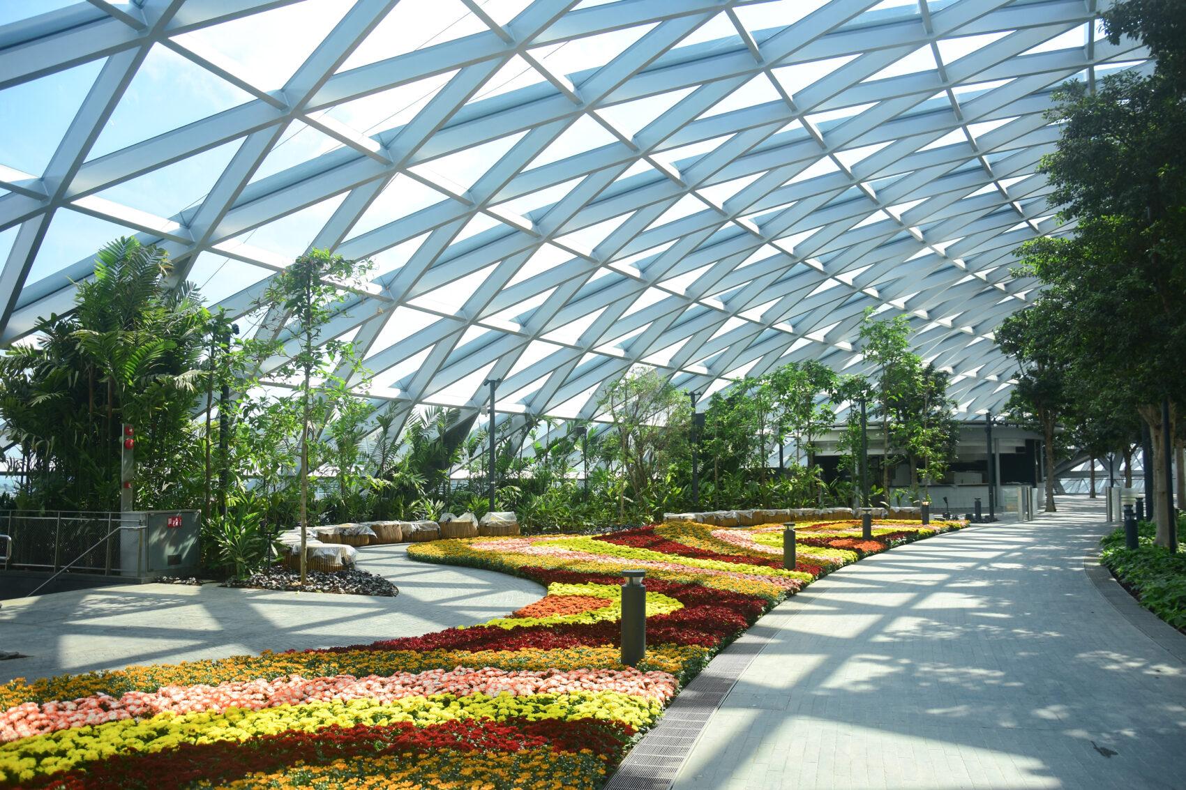 Petal Garden at the Canopy Park, Singapore Changi Jewel Terminal