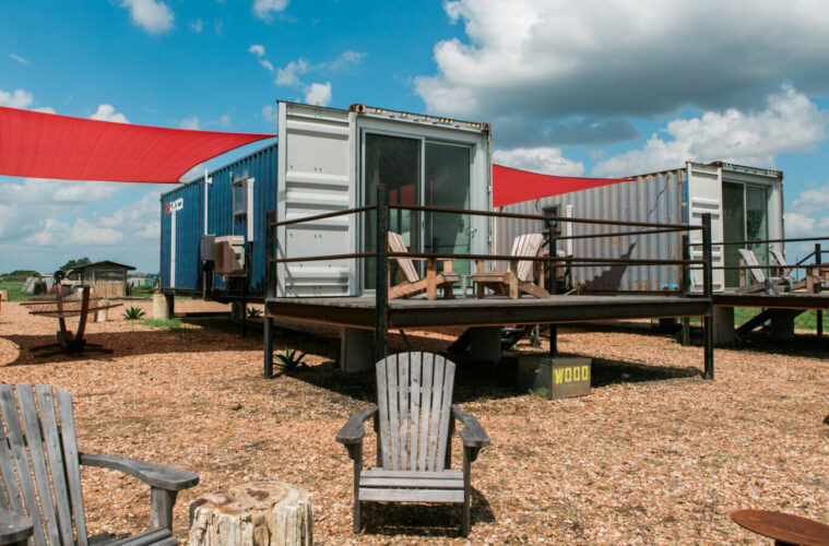 Upcycled shipping containers, Texas