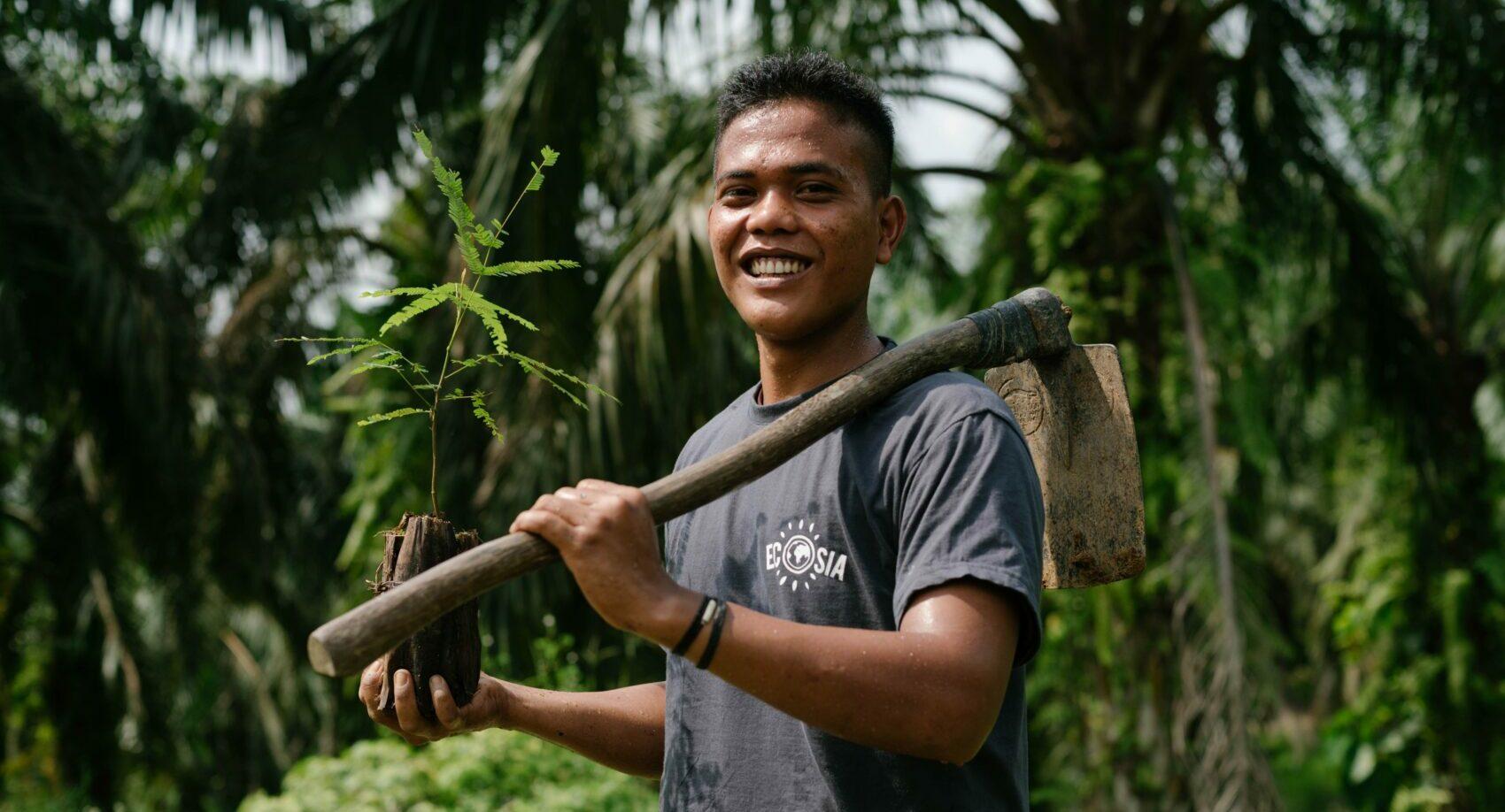 Ecosia planting trees