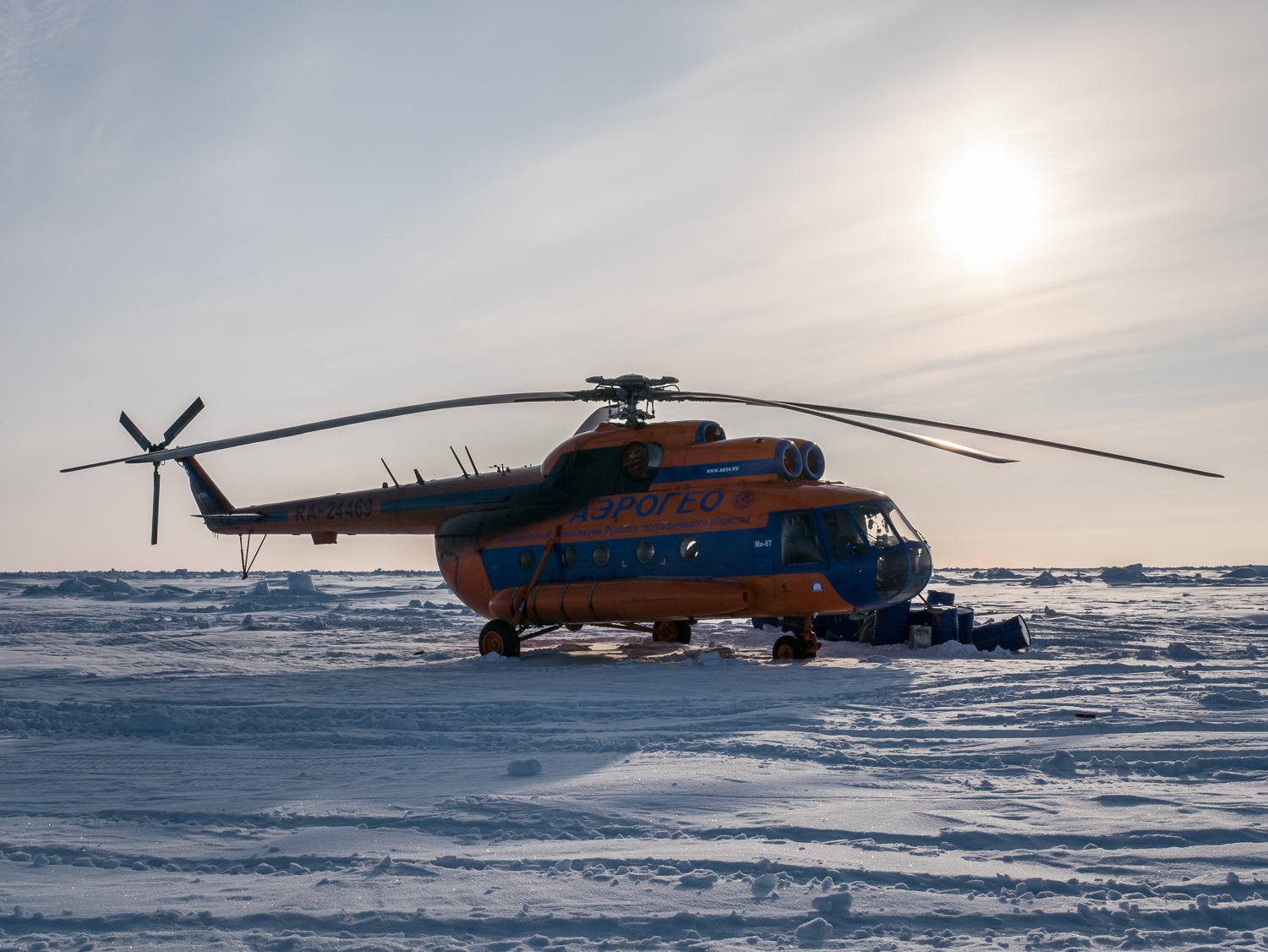 Luxury Action helicopter