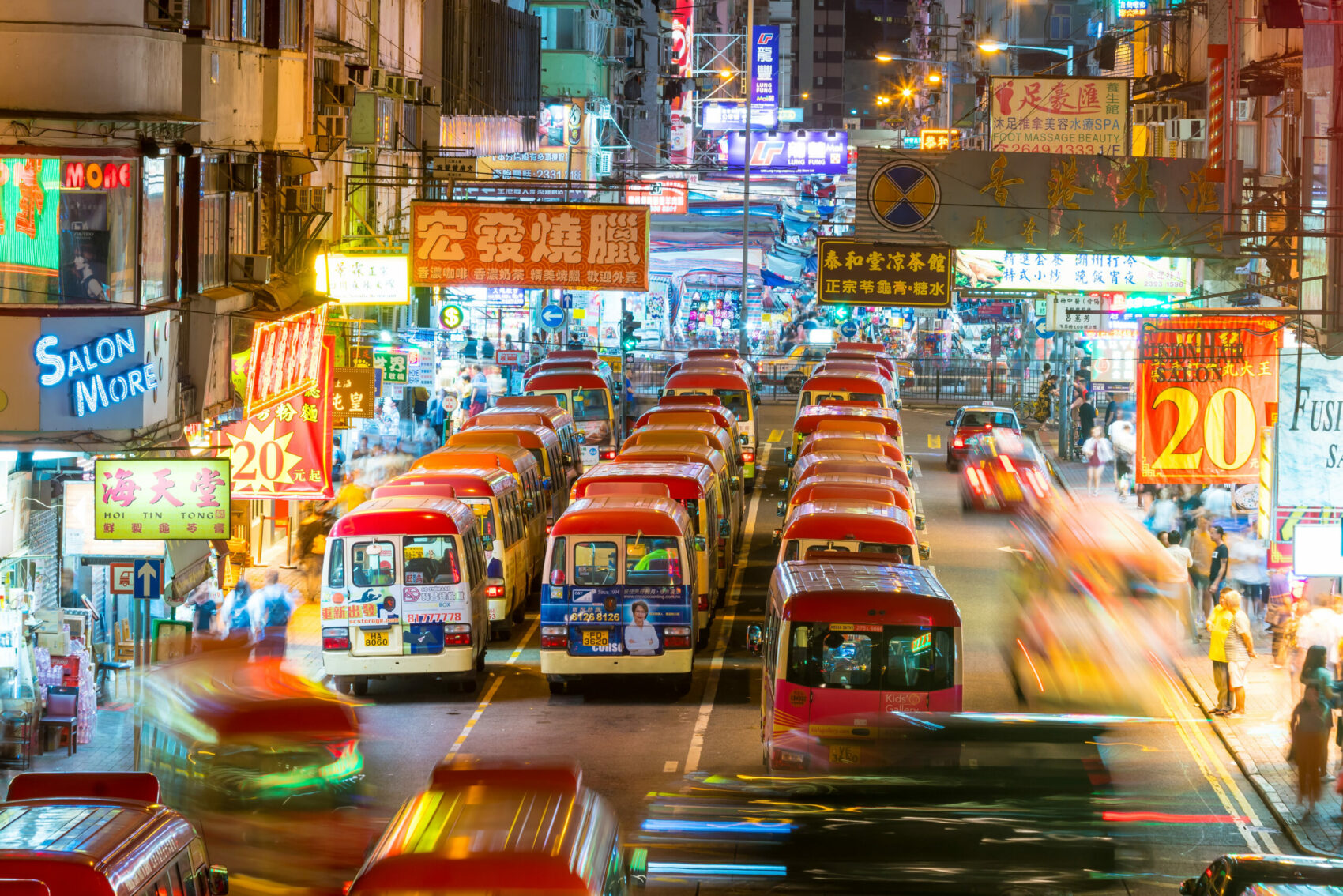 Neon lights in Mong Kok, Hong Kong