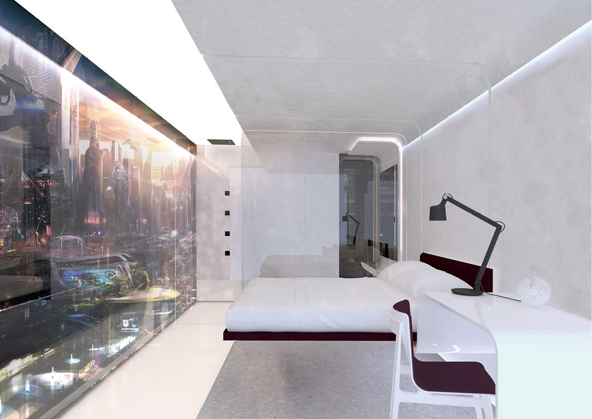 YOTEL hotel room 2050
