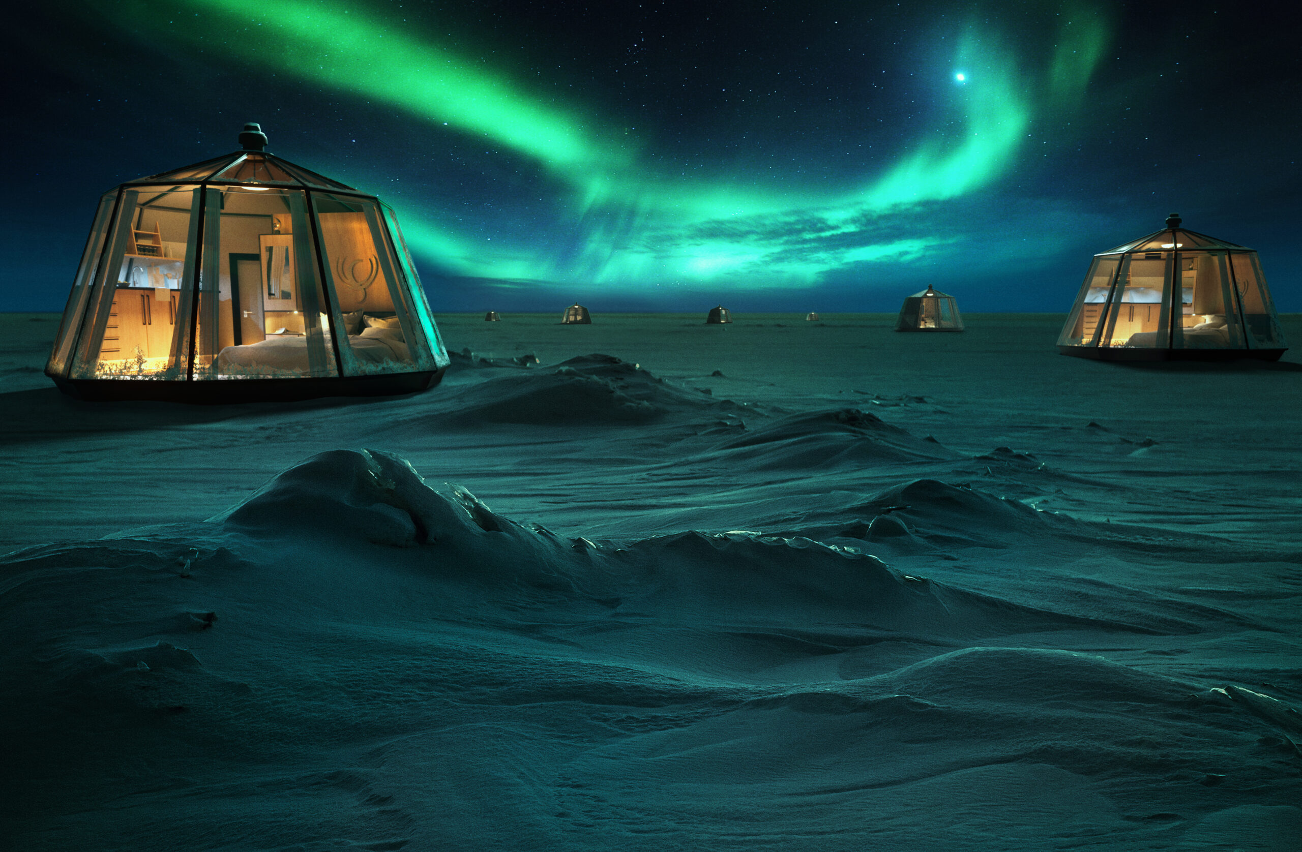 Luxury Action North Pole Igloos camp