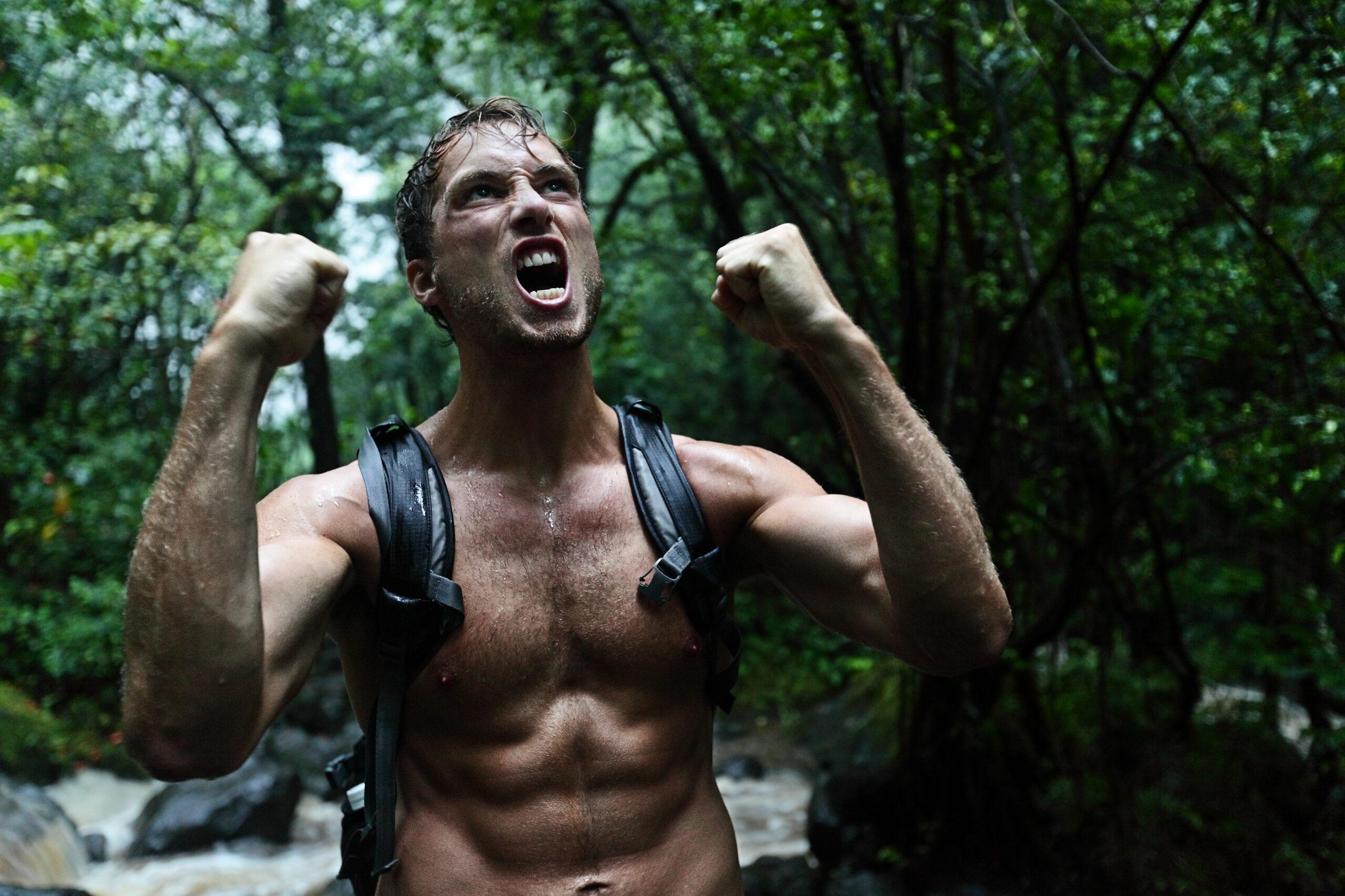 Athletic survivor man