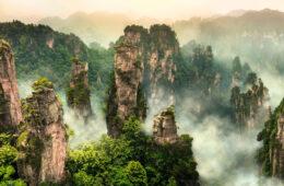 Zhangjiajie cliff mountain at Wulingyuan Hunan China