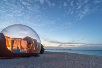 Beach Bubble Tent, Seaside Finolhu, Maldives