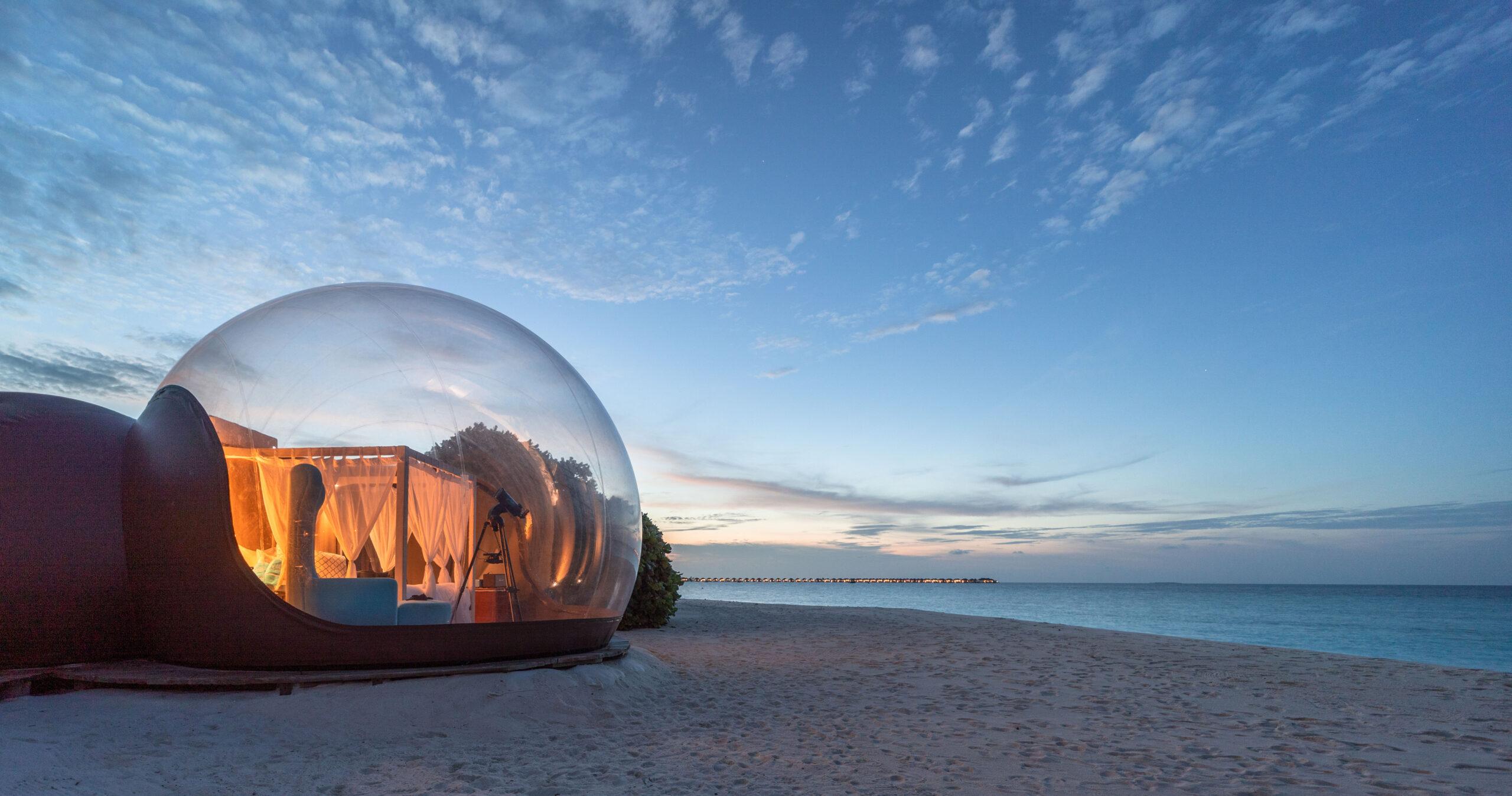 Beach Bubble Tent, Seaside Finolhu, Maldives