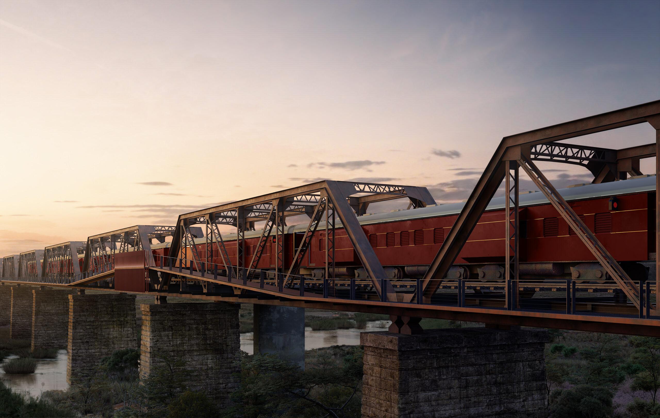The Kruger Shalati Train on a Bridge hotel