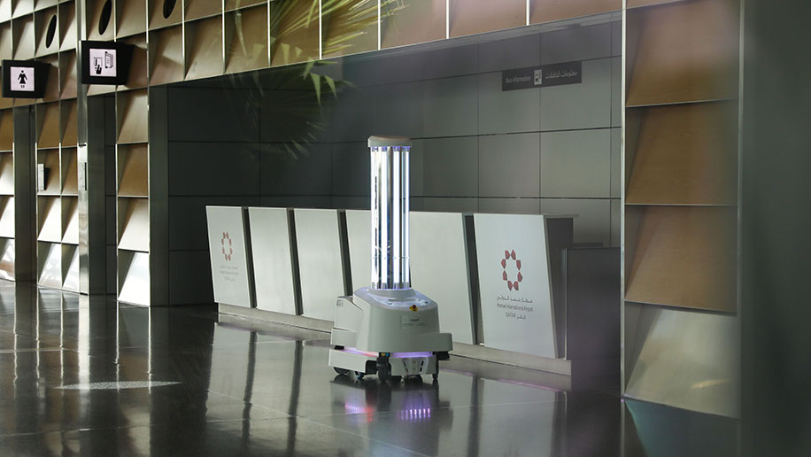 Cleaning robots Doha Hamad International airport