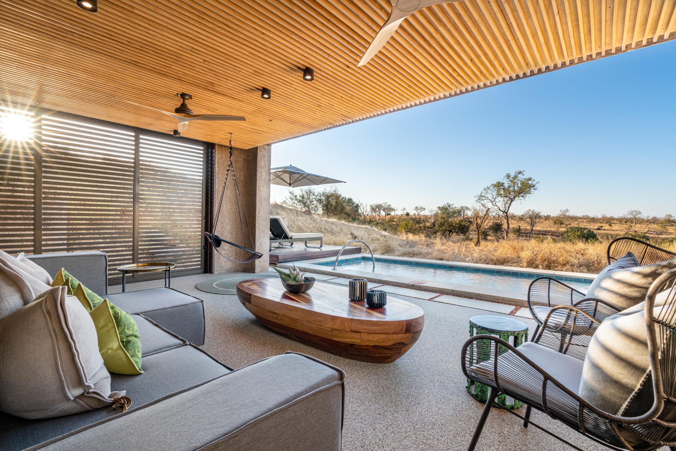 Sabi Sabi Earth Lodge Lux Suite Terrace Lounge