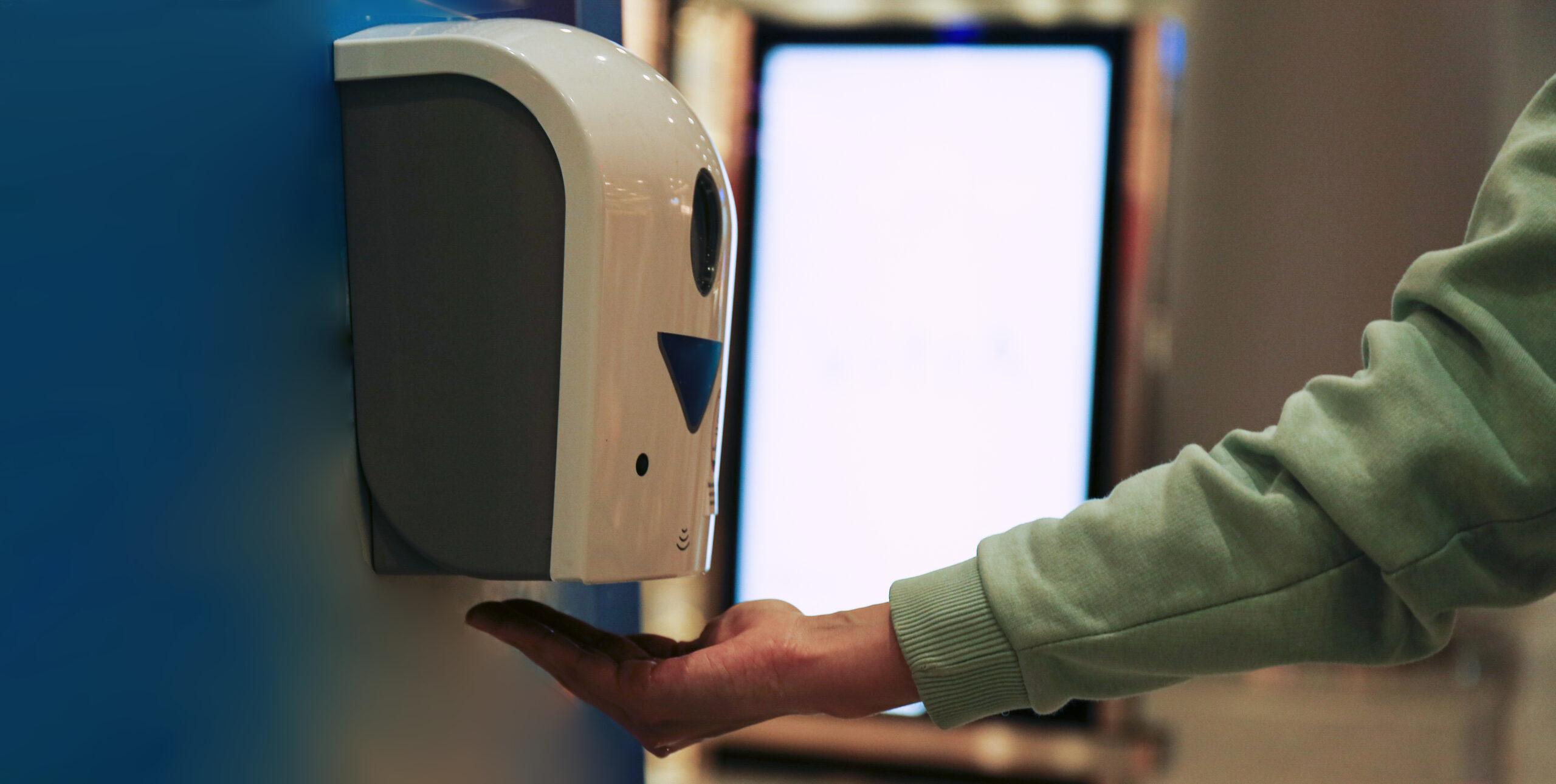 Conactless hand sanitiser dispense