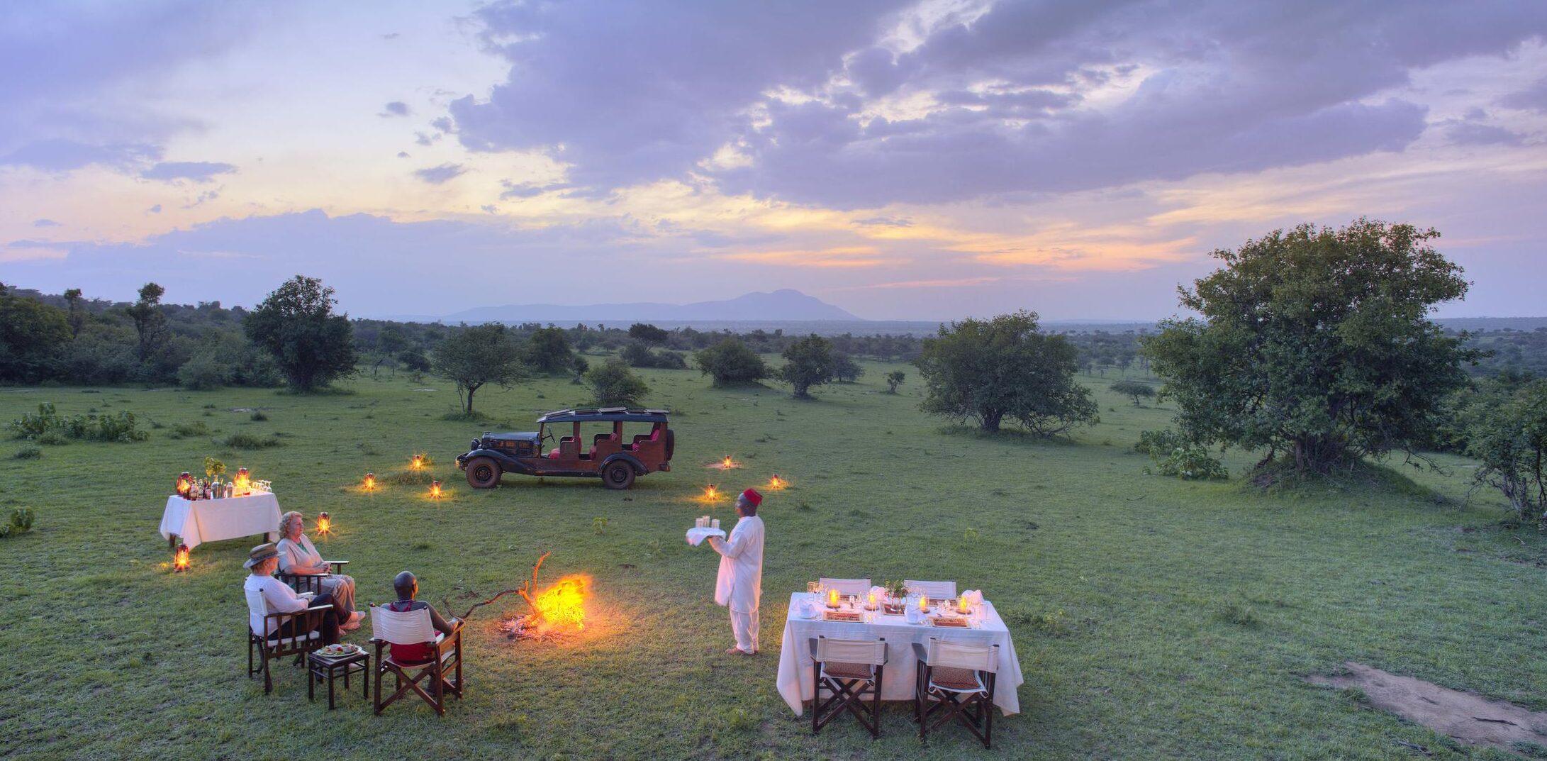 Aardvark Safaris, Cottar Camp Bush Dinner