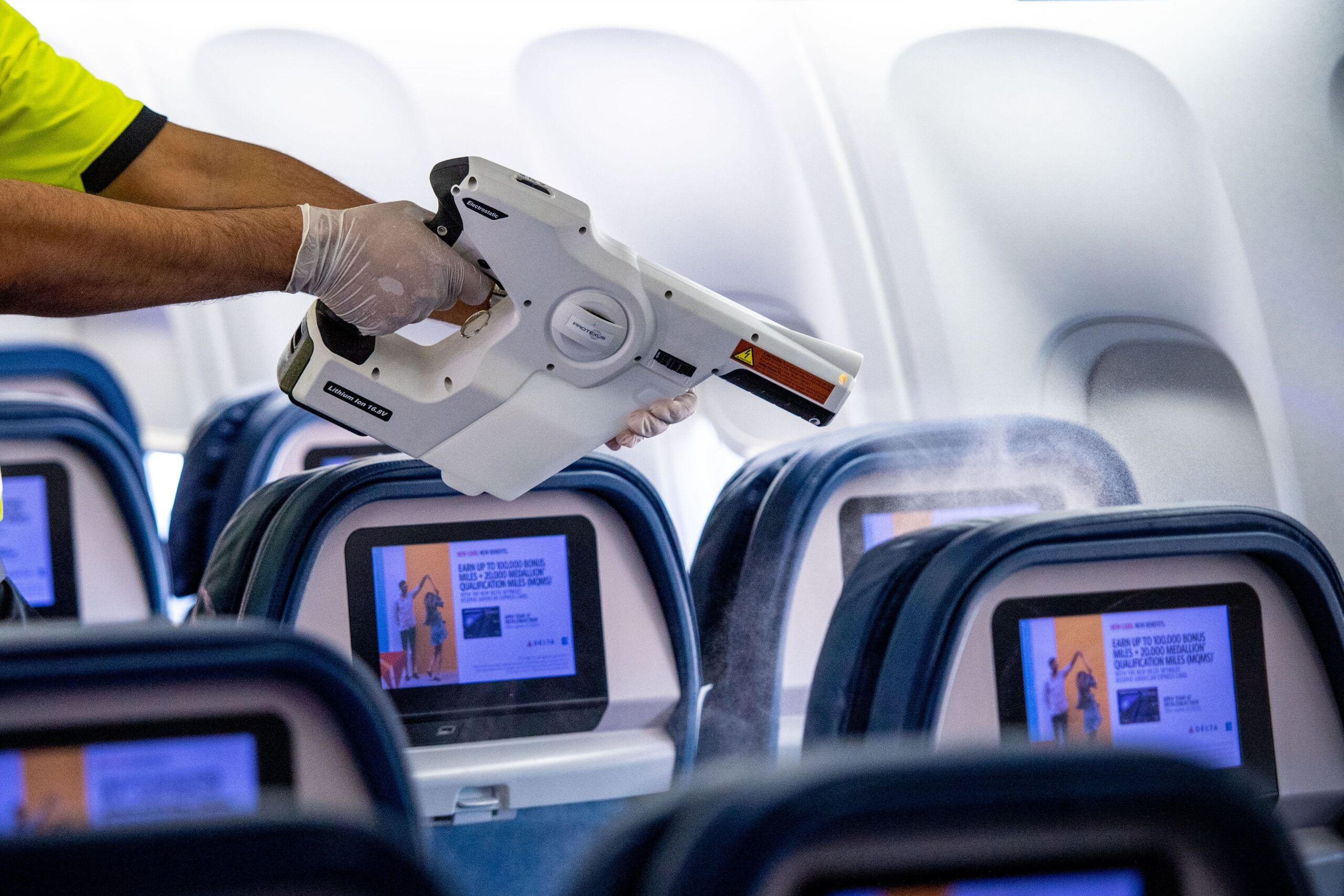 Delta Air Lines electrostatic cleaning