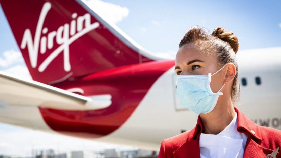 Virgin Atlantic crew face mask