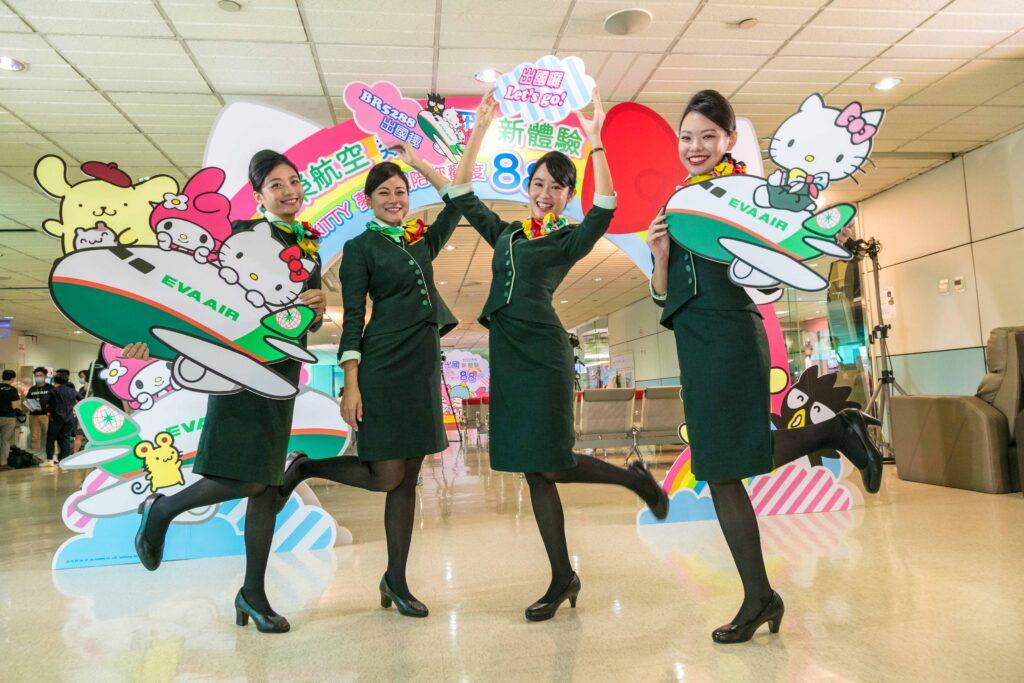 EVA Air Hello Kitty flight